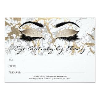 Gold Marble Makeup Beauty Eyes Certificate Ebony1 Card