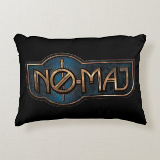 Gold & Marble No-Maj Badge Accent Pillow