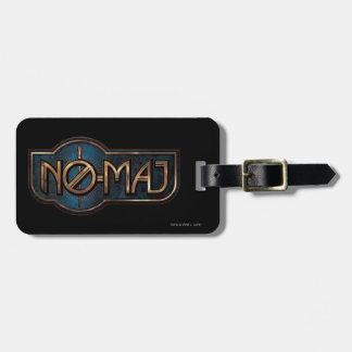Gold & Marble No-Maj Badge Luggage Tag