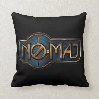 Gold & Marble No-Maj Badge Throw Pillow