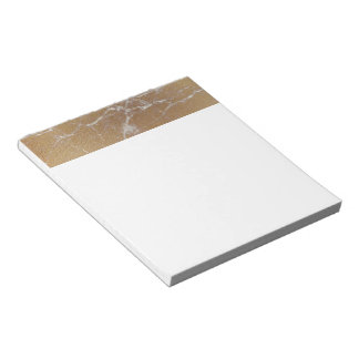 gold marble notepad