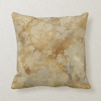 Gold marble pillow