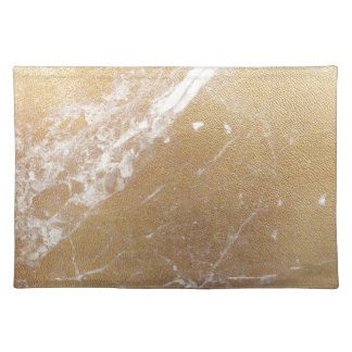 gold marble placemat