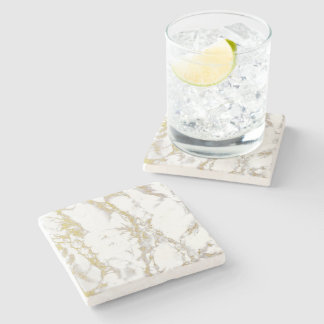 Gold Marble Square Coaster