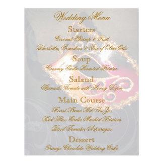 Gold Masquerade Ball Wedding Menu Flyer
