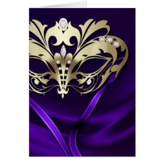 Gold Masquerade Purple Card