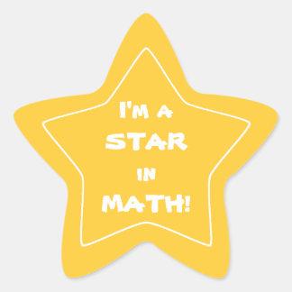 Gold Math Star Student Star Sticker