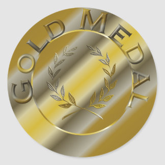 Gold Medal Classic Round Sticker
