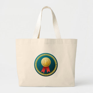 Gold Medal - No.1 first win winner prize honor Large Tote Bag