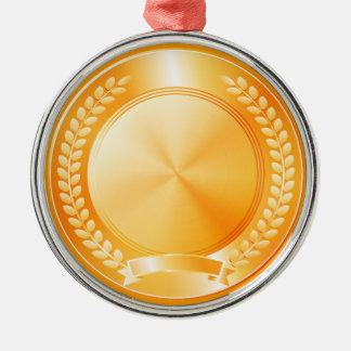 Gold Medal of Honor Metal Ornament