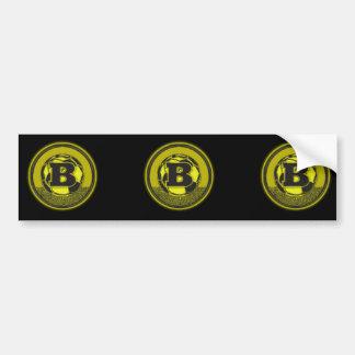 Gold Medal Soccer Monogram Letter B Bumper Sticker
