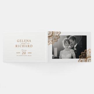 Gold Medallion Elegant Mandala Wedding Guest Book
