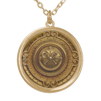Gold Medallion Gold Plated Necklace