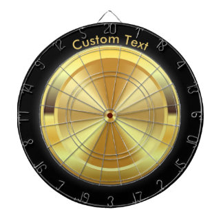 Gold Medallion Personalized Dart Boards