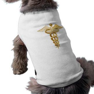 Gold Medical Caduceus Doggie Tee