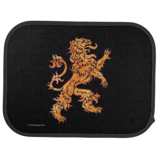 Gold Medieval Lion Auto Mat