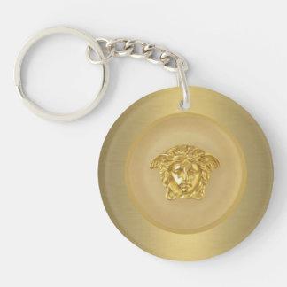 Gold Medusa Medallion Keychain