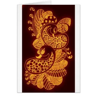 gold mehndi cards
