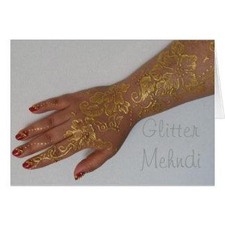 Gold mehndi henna cone Card
