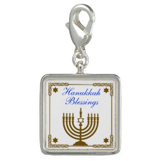 Gold Menorah Charm