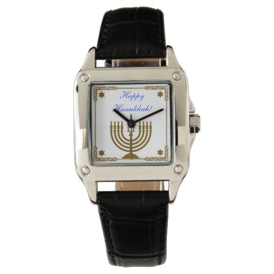 Gold Menorah Wristwatch