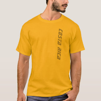 Gold Men's Costa Rica T-shirt