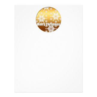 Gold Merry Christmas Snowflakes - Letterhead Design