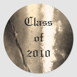 Gold Metal Class of Senior Graduation Sticker