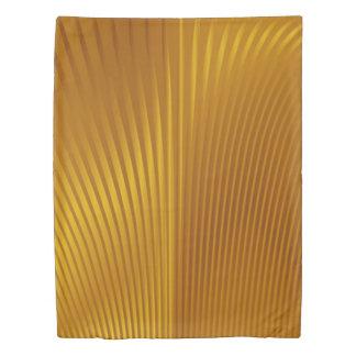 Gold Metal Deco Pattern Duvet Cover
