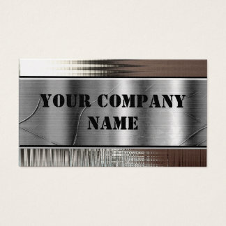 Gold Metal Look Bold Business Cards