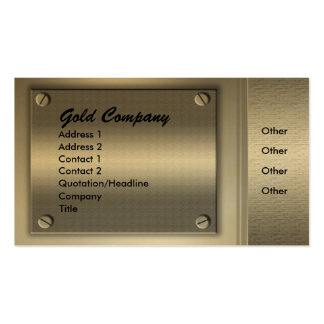 Gold Metal Plates Business Cards