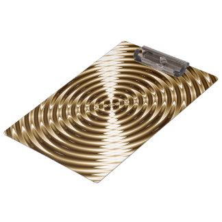 Gold Metal Spiral Clipboard