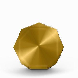Gold Metallic Design Acrylic Octagon Award