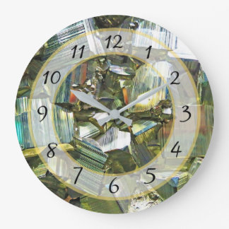 Gold Metallic Faux Stone Gem Clock