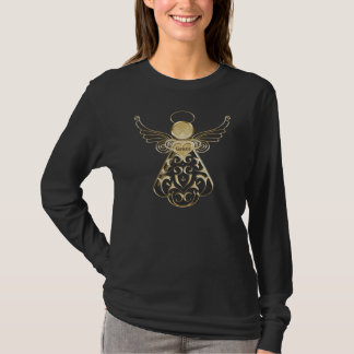 Gold Metallic Filigree Christmas Angel of Grace T-Shirt