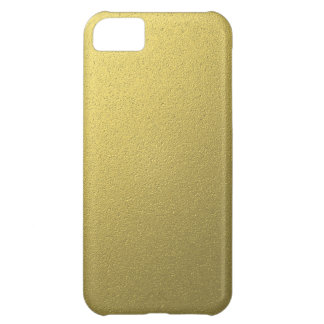 Gold Metallic Foil Effect Cover For iPhone 5C