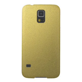 Gold Metallic Foil Effect Galaxy S5 Cover