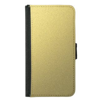 Gold Metallic Foil Effect Samsung Galaxy S5 Wallet Case