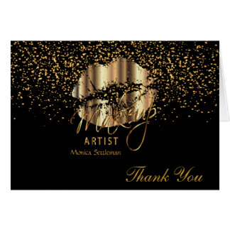 Gold Metallic Lip Color Card