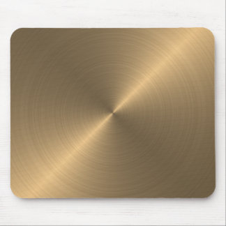 Gold Metallic Look Mouse Pad