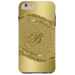 Gold Metallic Look With Diamonds Pattern