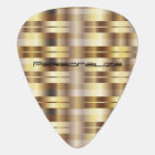 Gold Metallic Stripes | Personalize Guitar Pick