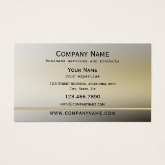 Gold Metallic Style Professional Business Card