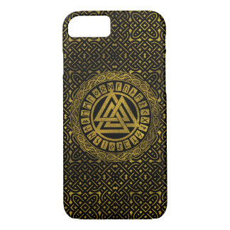 Gold  Metallic Valknut Symbol Case-Mate iPhone Case