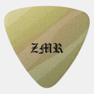 Gold Metallic Waves Guitar Pick
