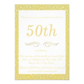 Gold Milestone Birthday Party Invitations