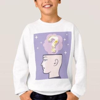 Gold Mindful Question vector art Sweatshirt