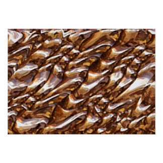 Gold Mine Golden Rock Pattern - Dry Brush Posters