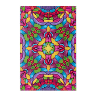 Gold Miner Kaleidoscope Acrylic Wall Art