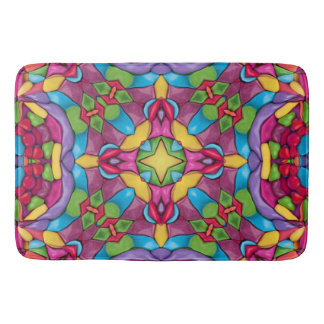Gold Miner  Kaleidoscope Bath Mats